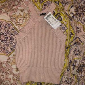 Brandy Melville Pink High Knit Tank